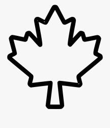 maple leaf outline clip vector clipart tree canada drawing clipground nicepng