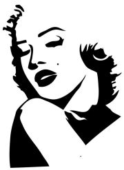 marilyn monroe silhouette red lips