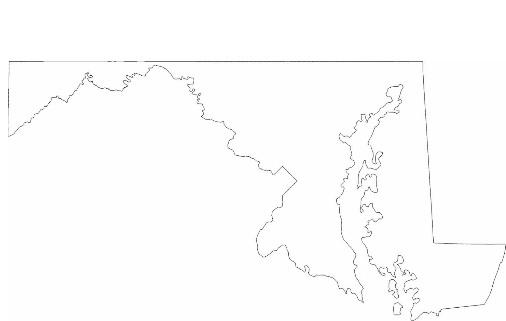Maryland Outline Clipart Free