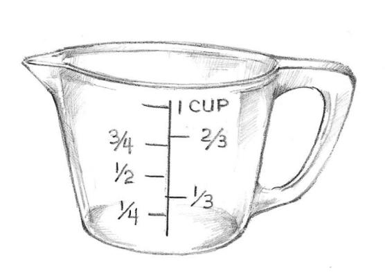White Black And Cup Measuring 1 Art Clip Cup