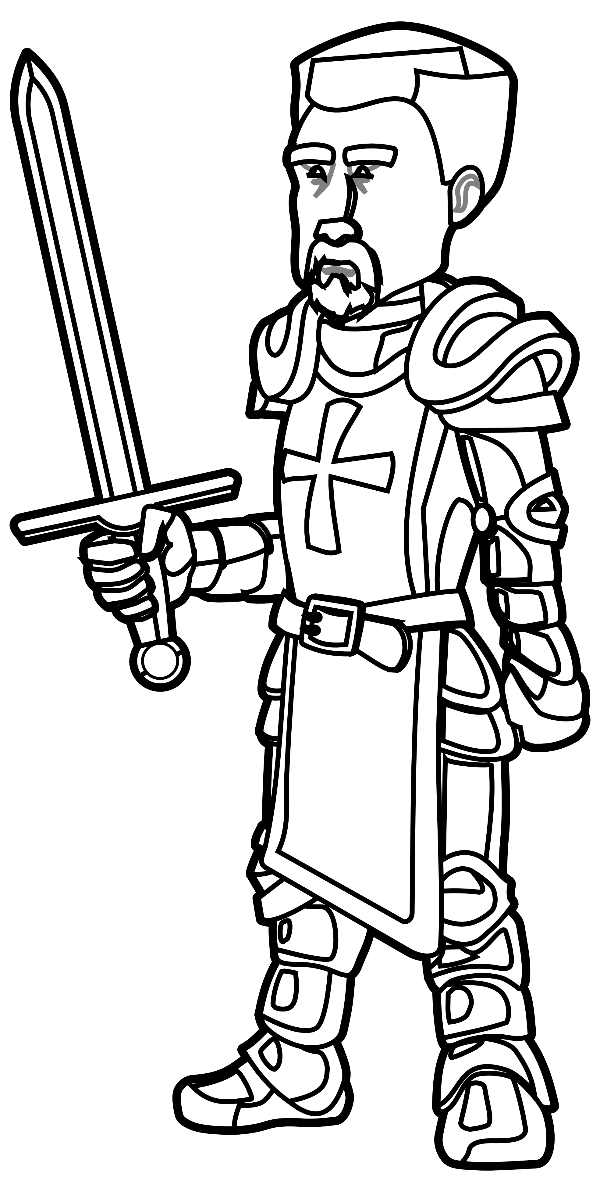 Me Val Black Knight Clipart