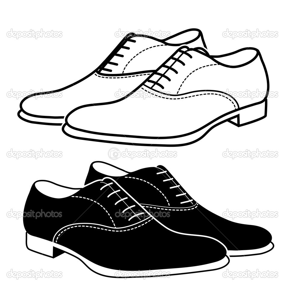mens dress shoes clipart black and white 20 free Cliparts