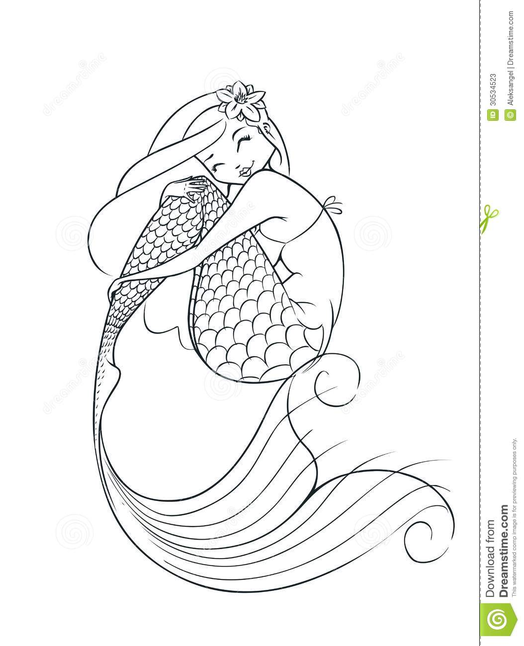 Mermaid Tail Clipart Outline 20 Free Cliparts