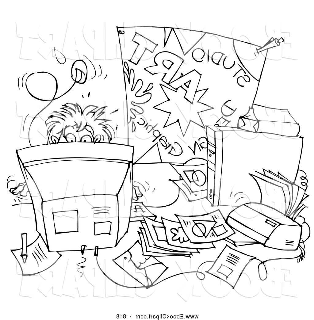 Messy Desk Clipart Black And White 20 Free Cliparts