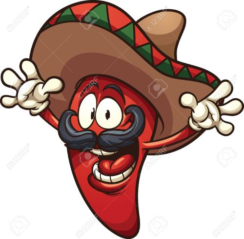 small resolution of happy mexican chili pepper vector clip art illustration with