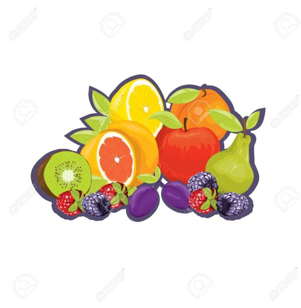 Mixed Fruit Clip Art