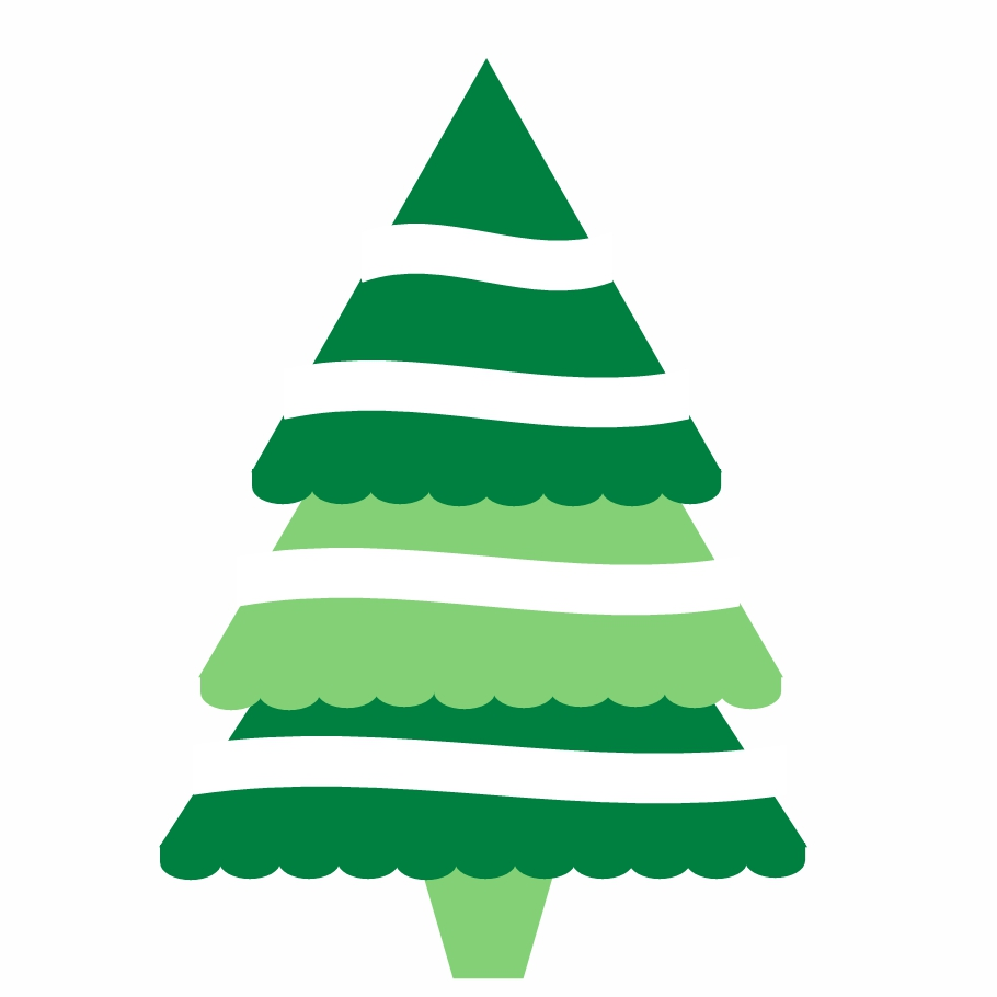 hight resolution of modern christmas tree clipart 2106091