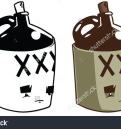 cartoon moonshine jug vector clip art stock vector 232941538  [ 1500 x 993 Pixel ]