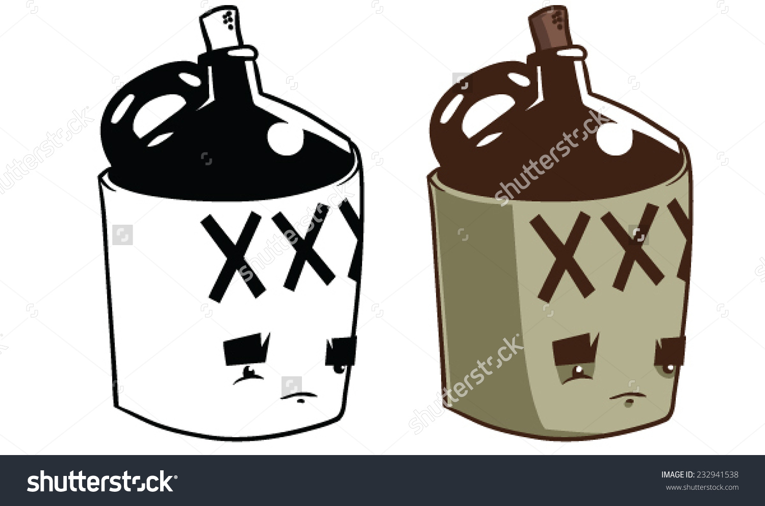 hight resolution of cartoon moonshine jug vector clip art stock vector 232941538