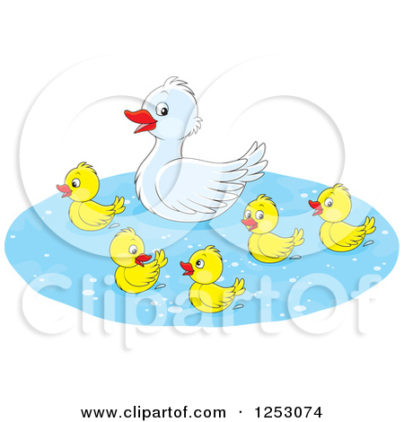 mother duck clipart - clipground