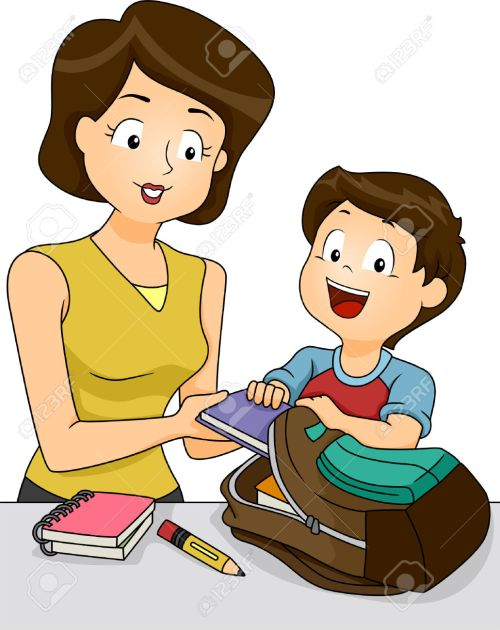small resolution of mother helping child clipart