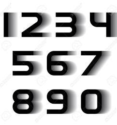 vector speed motion blur font numbers royalty free cliparts  [ 1300 x 1300 Pixel ]