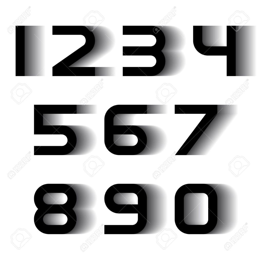 medium resolution of vector speed motion blur font numbers royalty free cliparts