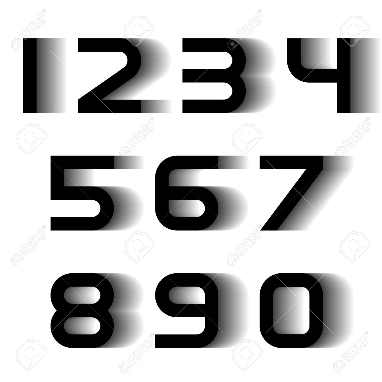 hight resolution of vector speed motion blur font numbers royalty free cliparts