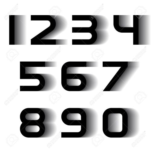 small resolution of vector speed motion blur font numbers royalty free cliparts
