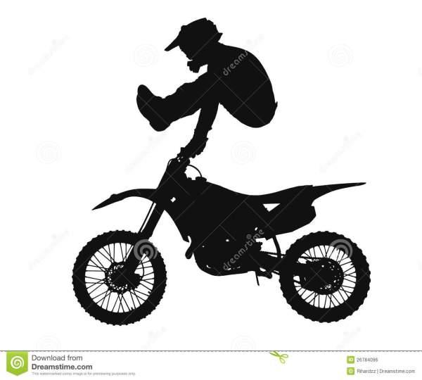 Motocross Bikes Clip Art Silhouette
