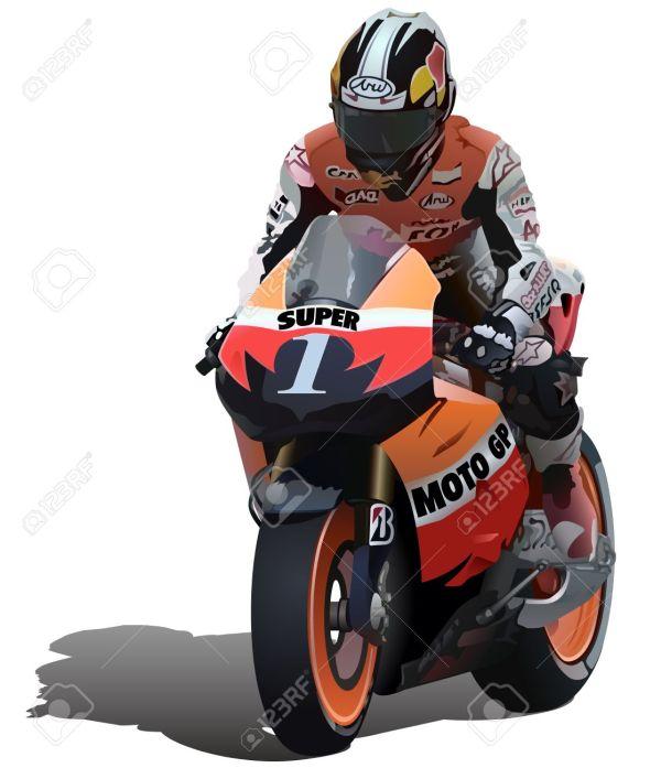 Motorcycle Racing Vector Art