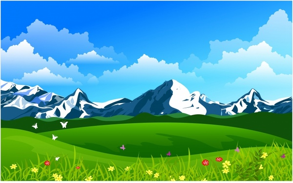Summer Mountain Clip Art