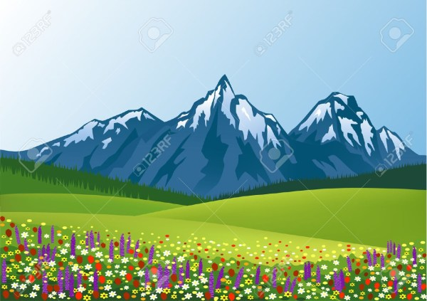 Cartoon Mountain Background Art