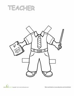 multiracial outline drawing paper doll clipart 20 free