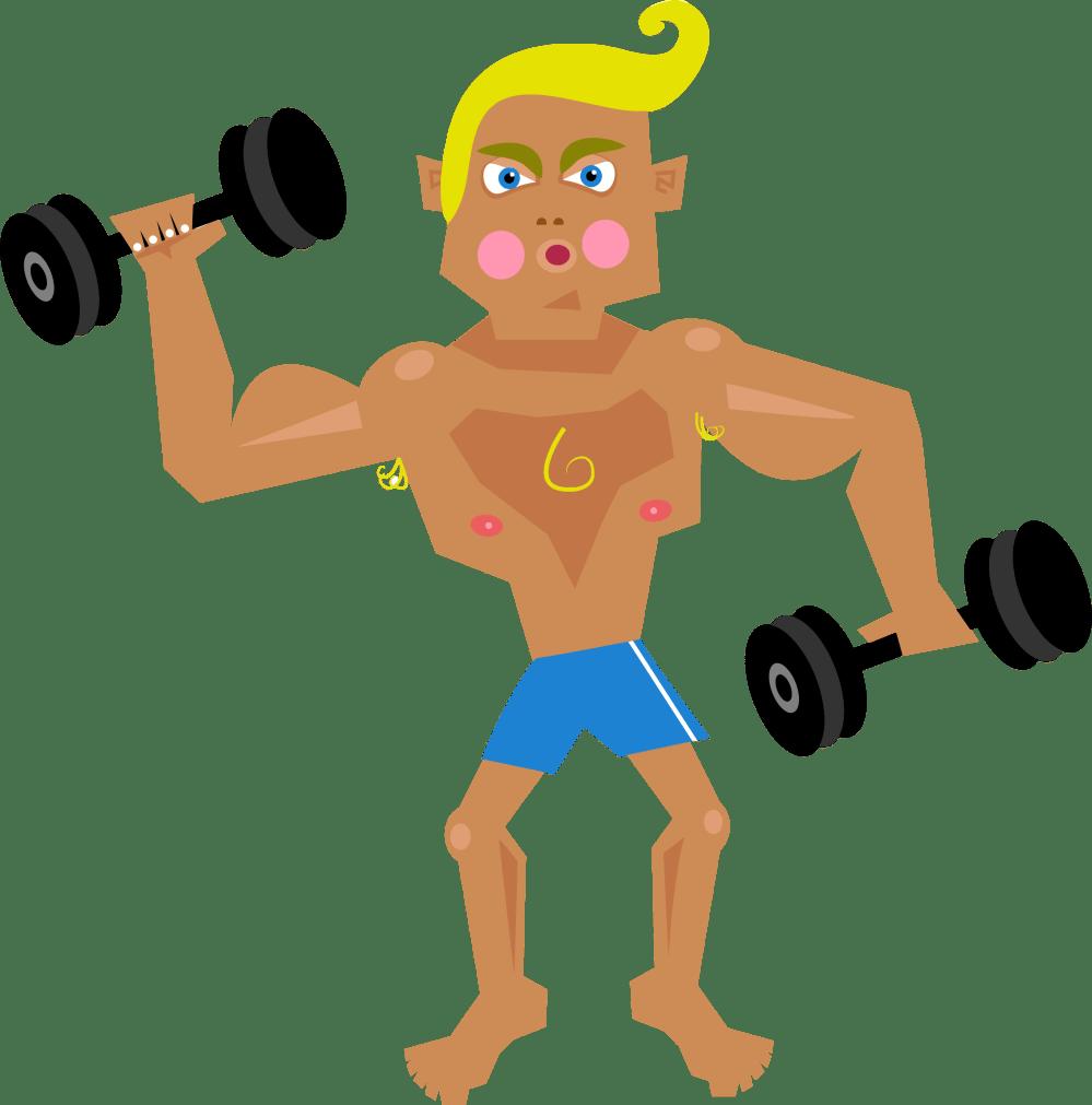 medium resolution of clipart muscle man musculalr man workout clipart