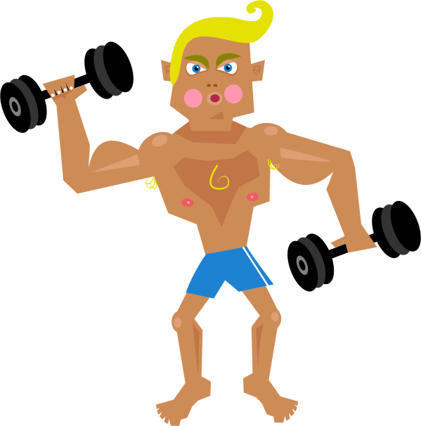 Musculalr Man Workout Clipart - Clipground