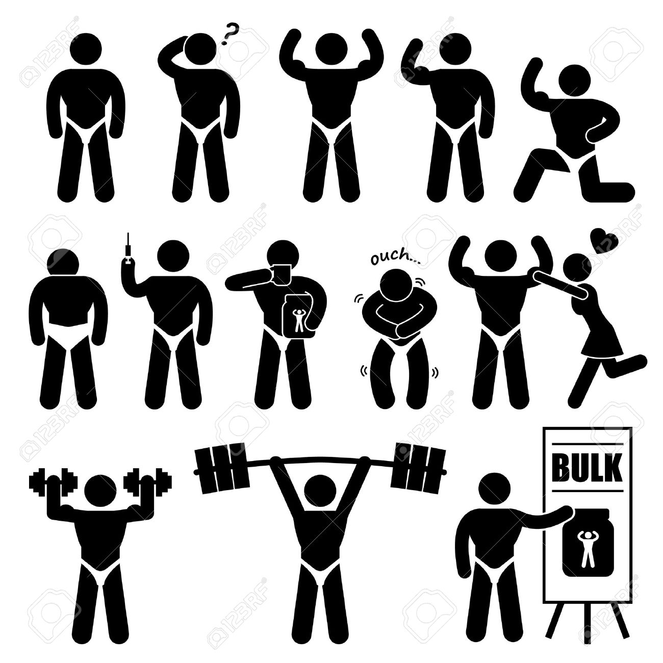 Female Bodybuilder Clipart