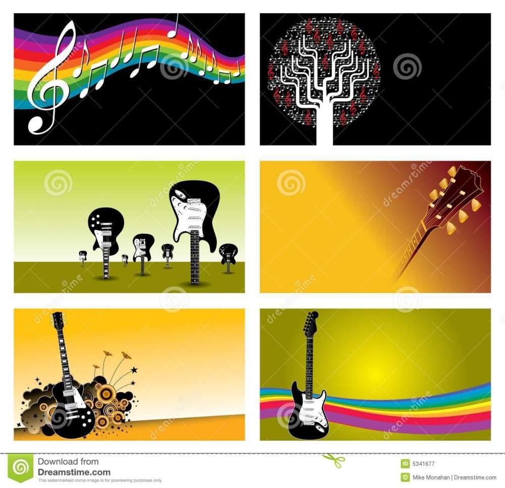 medium resolution of set of music business cards