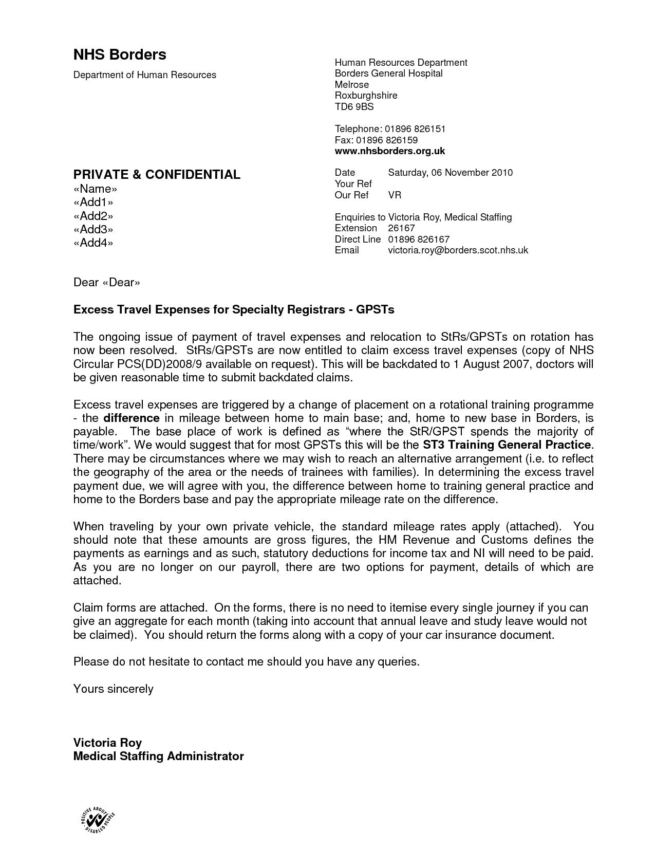 recommendation letter for nhs