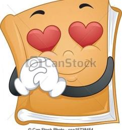 clipart vector of romantic novels illustration of a mascot book  [ 925 x 1024 Pixel ]