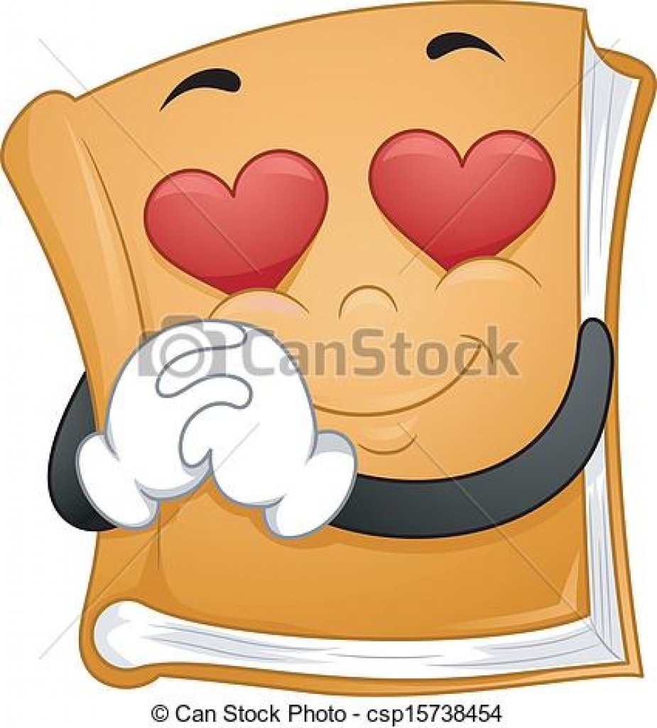 hight resolution of clipart vector of romantic novels illustration of a mascot book