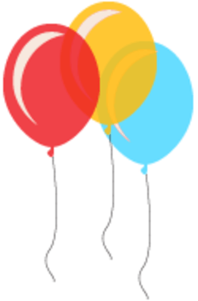 number 2 balloon clipart - clipground