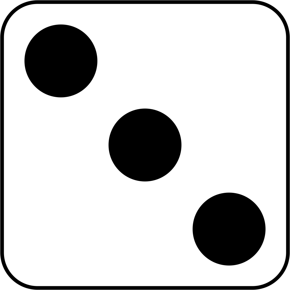medium resolution of number 3 dice clipart black and white