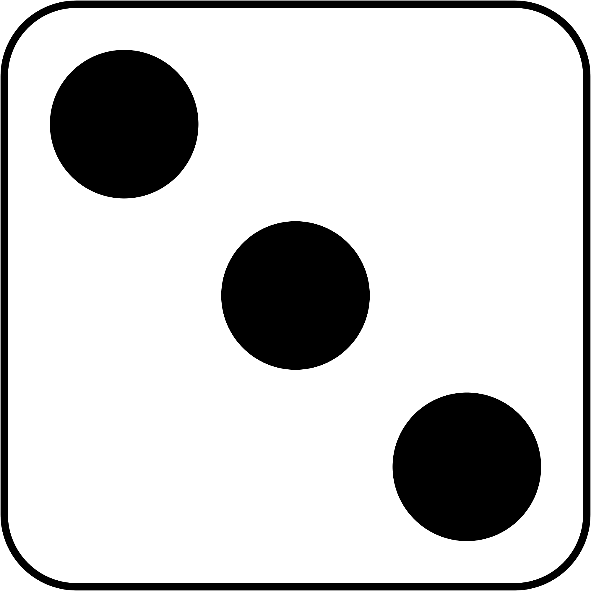 hight resolution of number 3 dice clipart black and white