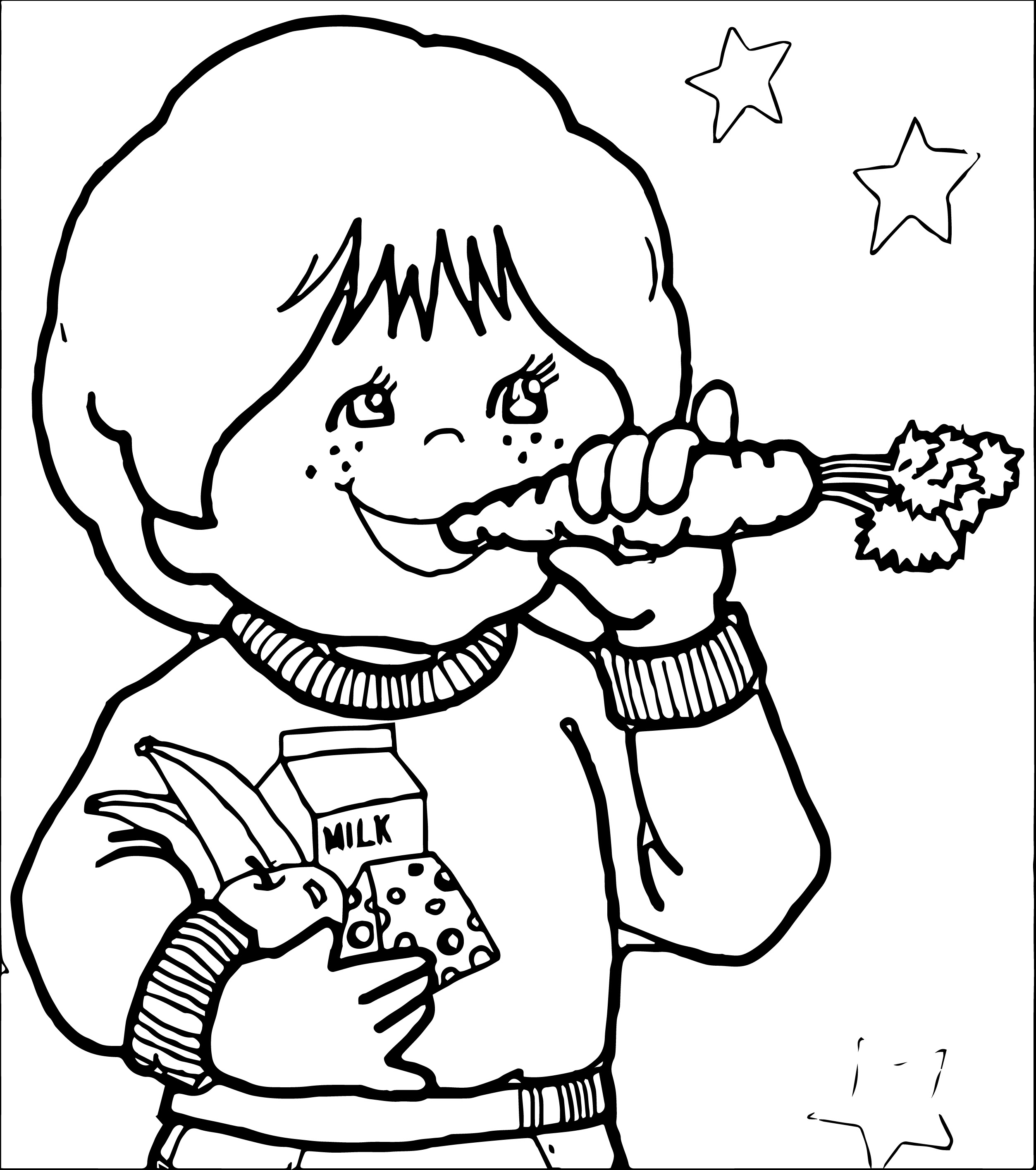 Nutritious Food Clipart Black And White