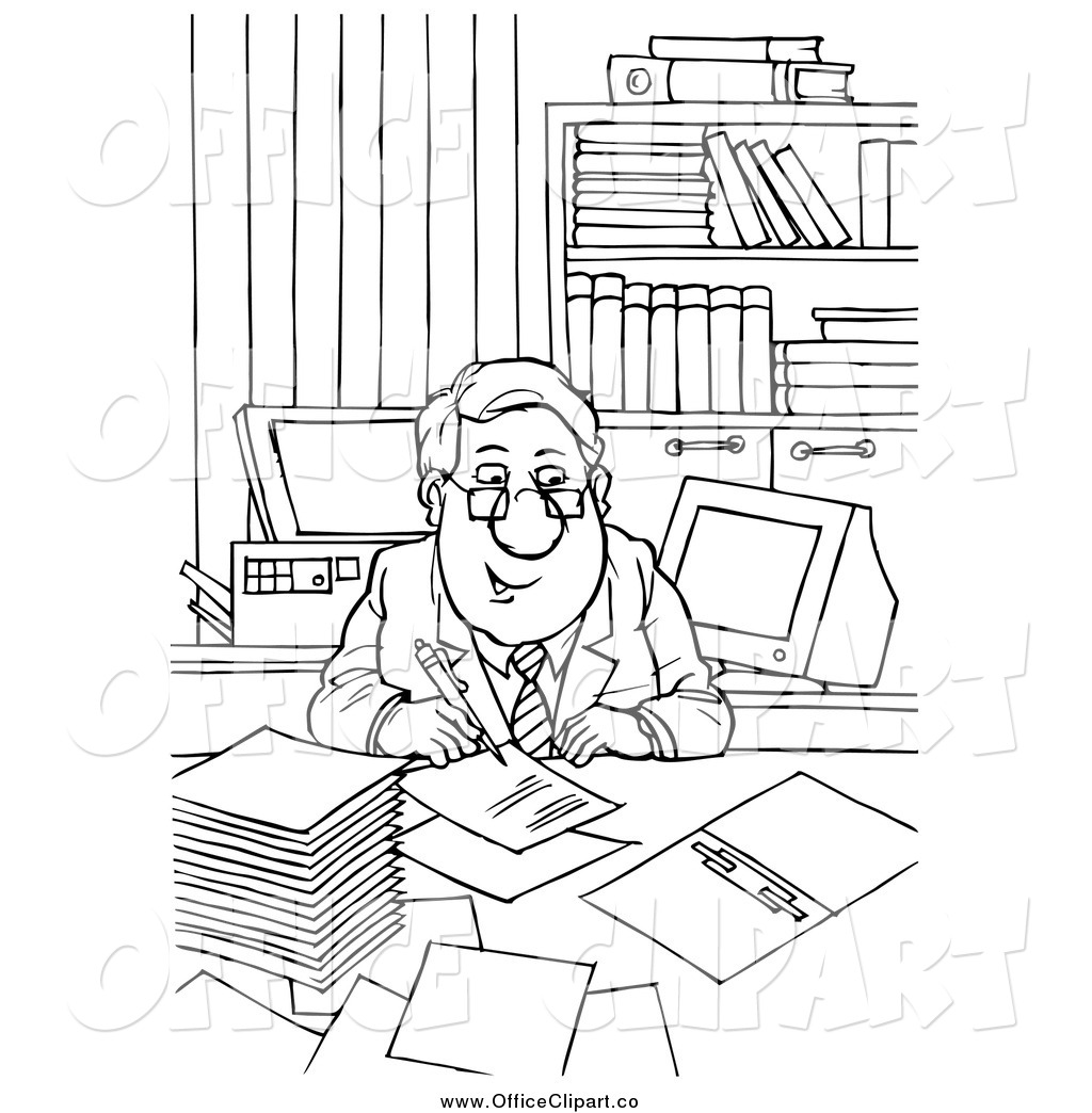 Office Clipart Black And White 10 Free Cliparts