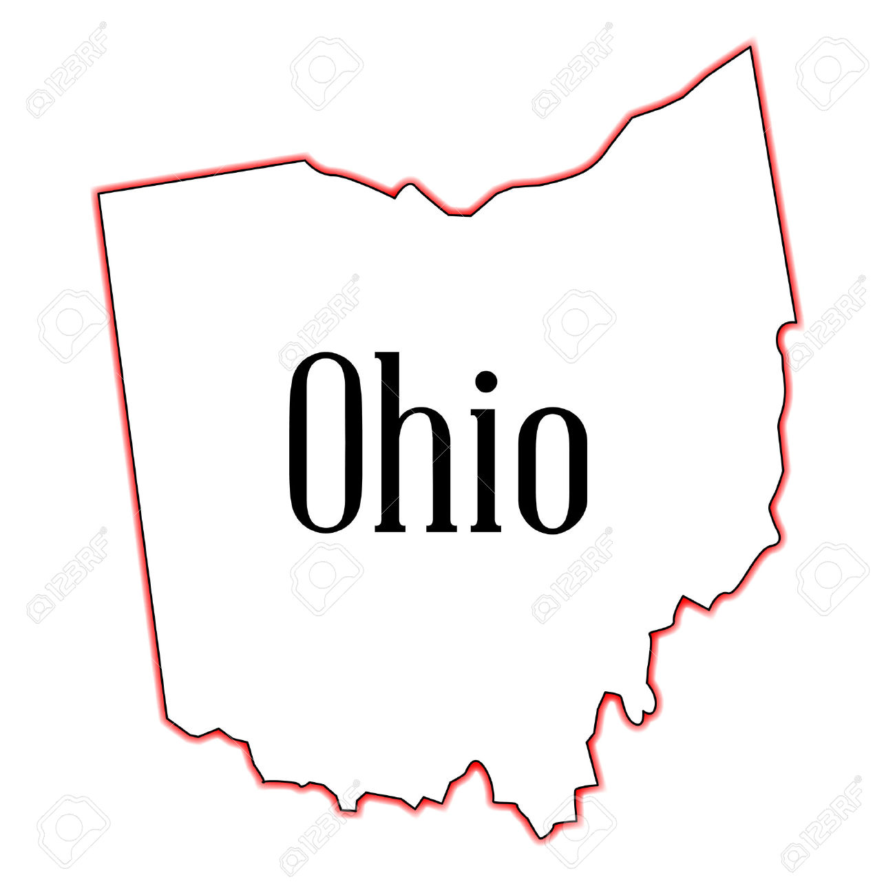 Ohio State Outline Clipart
