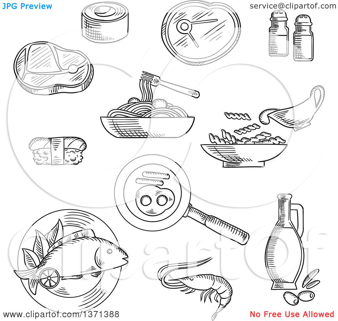 Spaghetti Day Clipart Black And White 20 Free Cliparts