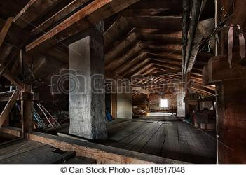 attic wooden clipart roof window framework structure creepy clip room trusses shutterstock unkempt clipground beams concrete dusty empty dark royalty