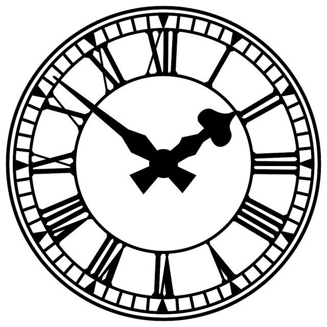Old Floor Clock Vector