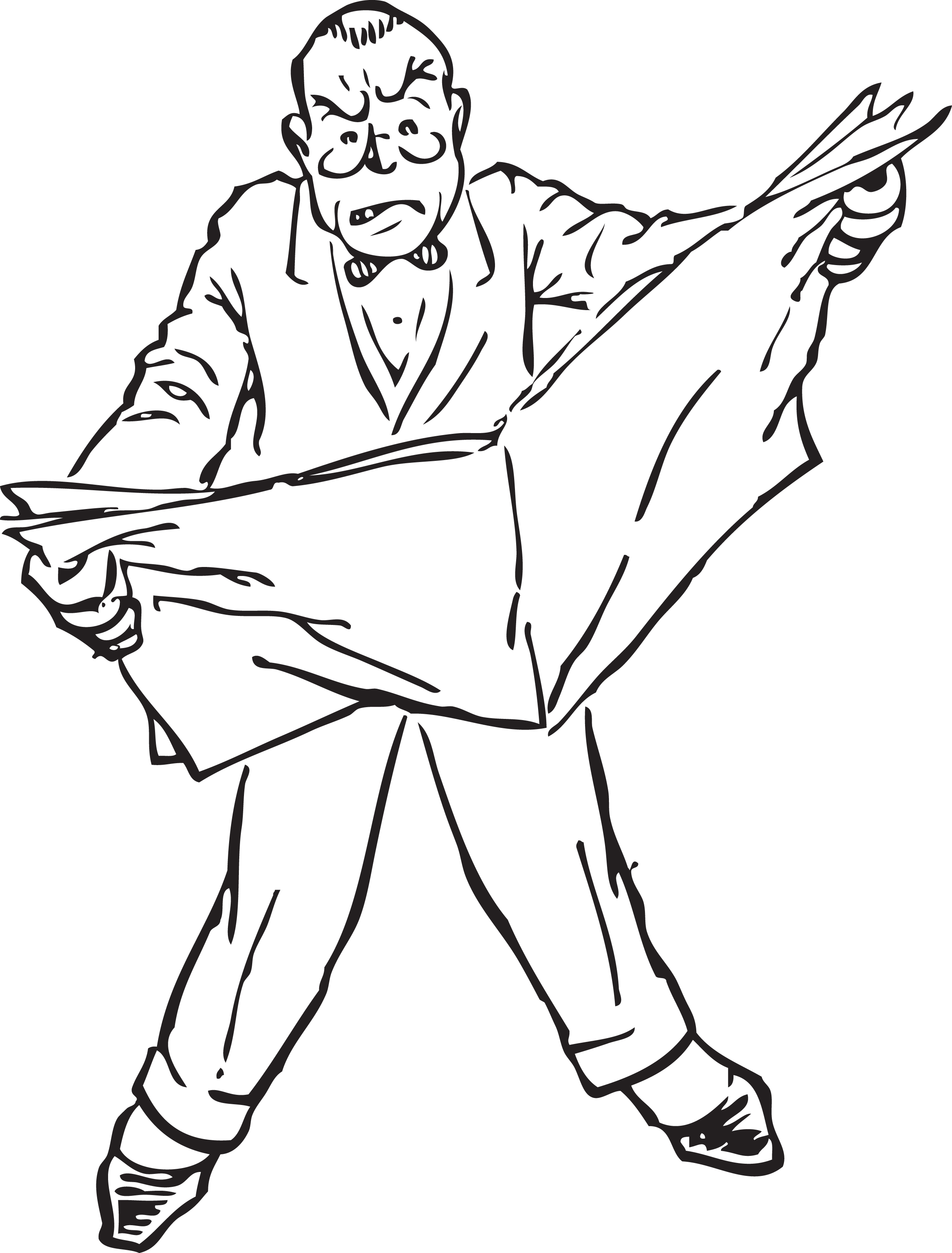 Old Man Reading News Paper Clipart