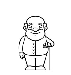 clipart grandfather walker person cane cartoon vector snoring sleeping ic hand clipground cliparts help