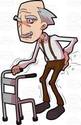 clipart cartoon walker walking grandpa suit person clip grumpy cartoons brown emoji pain clipartfox clipartix clipartmag clipground backaches while fall