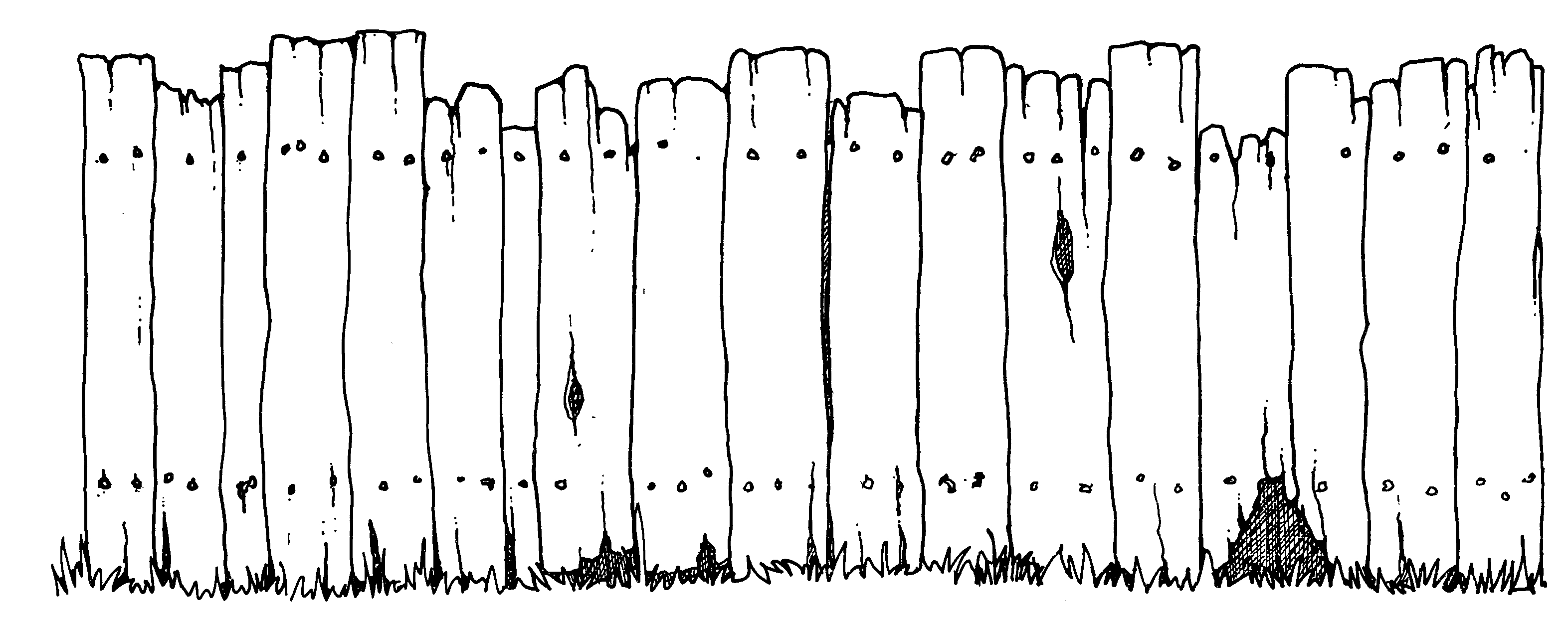 Old Wooden Fence Clipart