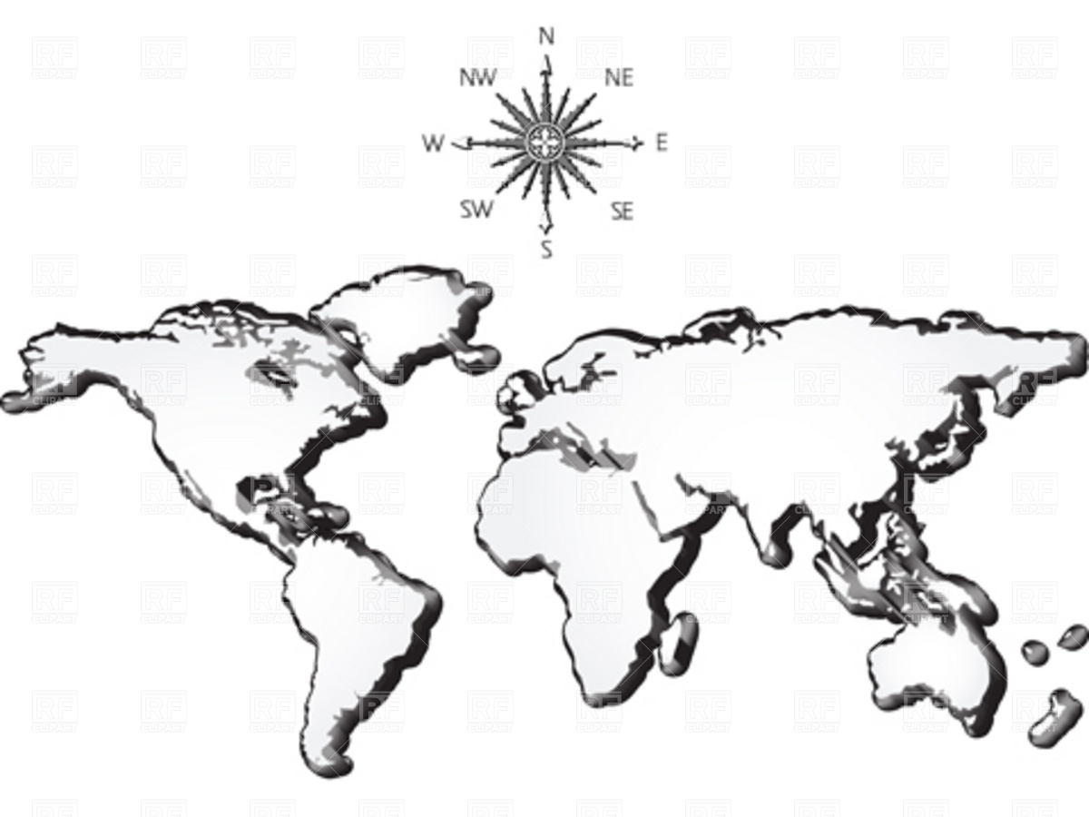 Old World Map Clip Art