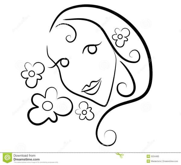 outline of flower clip art 20