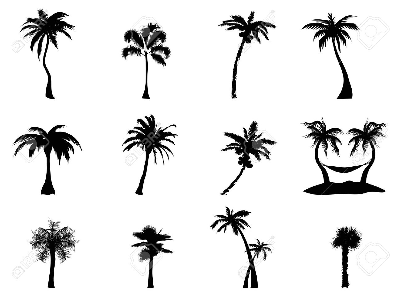 Palm Tree Hammock Clipart 20 Free Cliparts