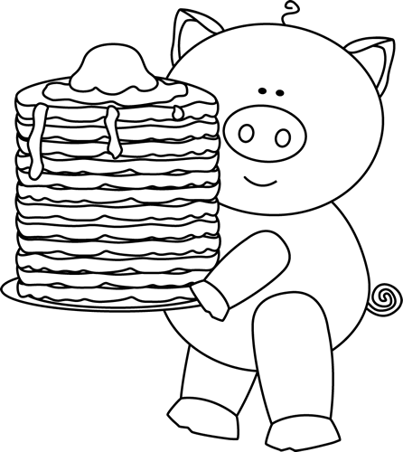 pancakes clipart black and white 20 free Cliparts