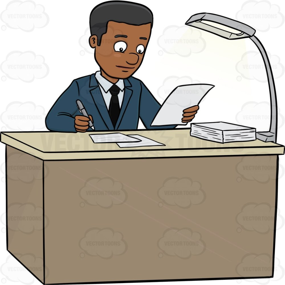 medium resolution of a male executive signing papers on the table