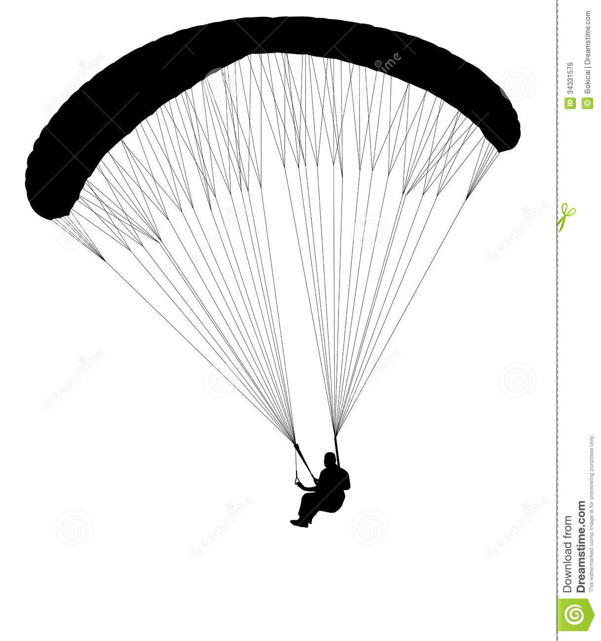 Paraglide Clipart